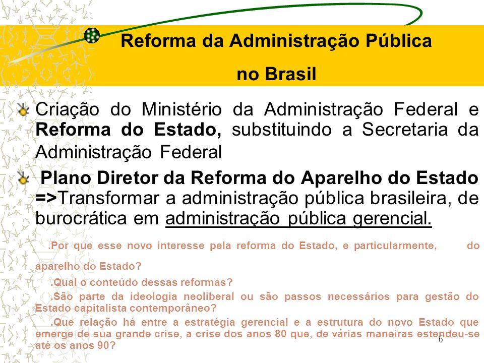 Reforma da Administração Pública no Brasil