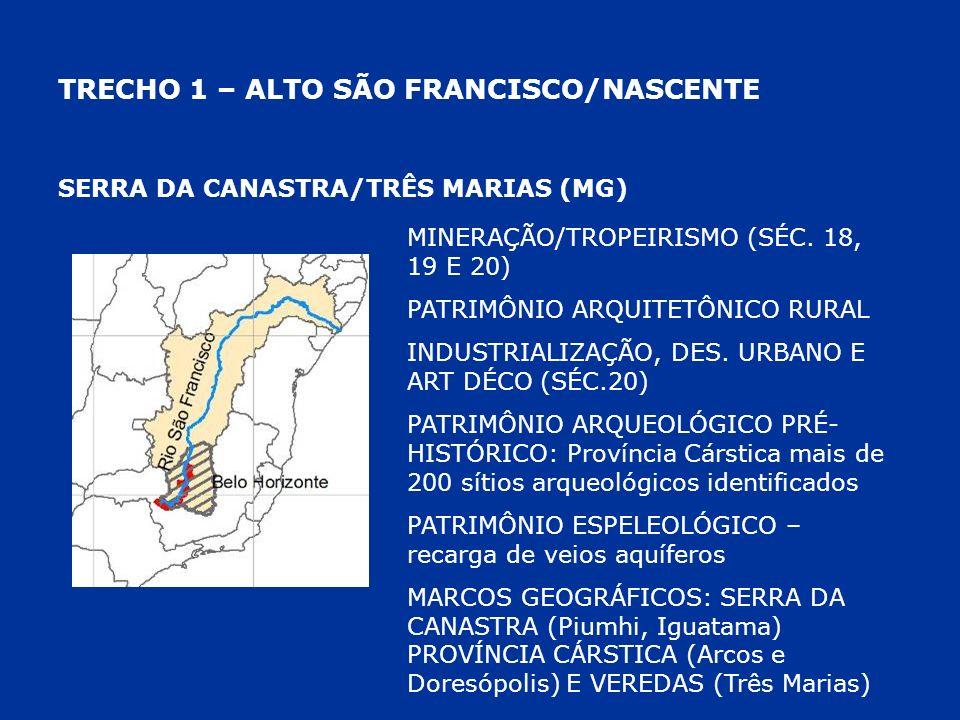TRECHO 1 – ALTO SÃO FRANCISCO/NASCENTE