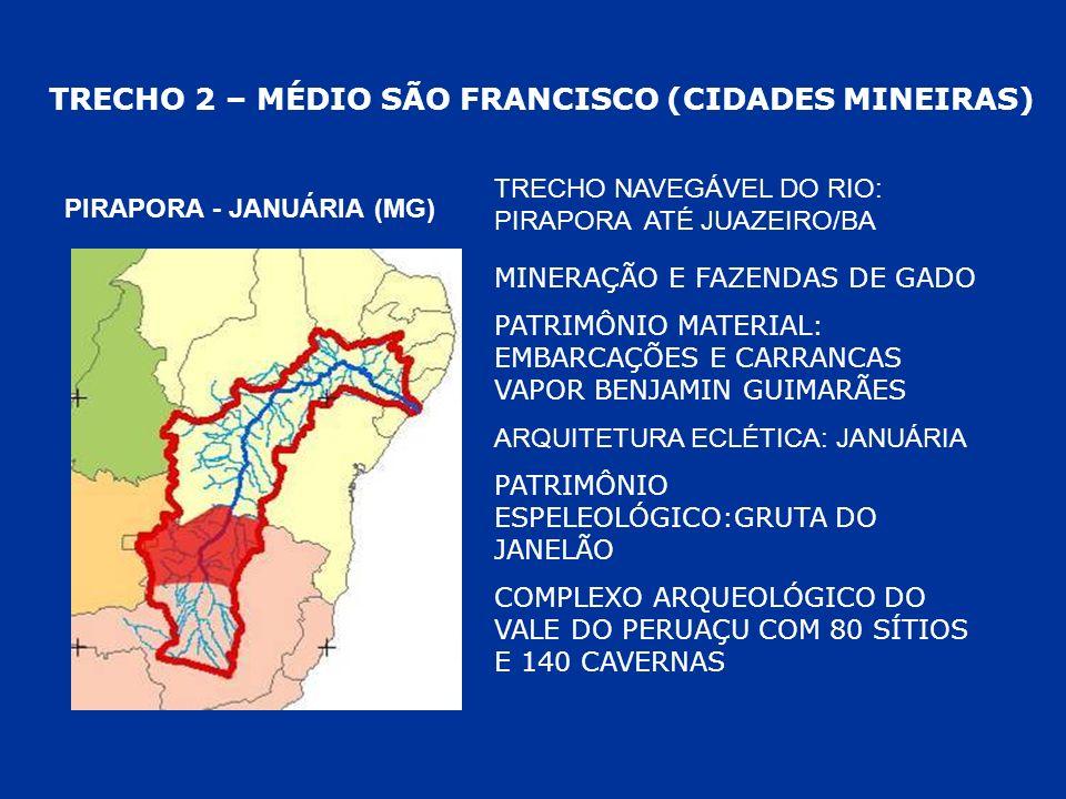 TRECHO 2 – MÉDIO SÃO FRANCISCO (CIDADES MINEIRAS)