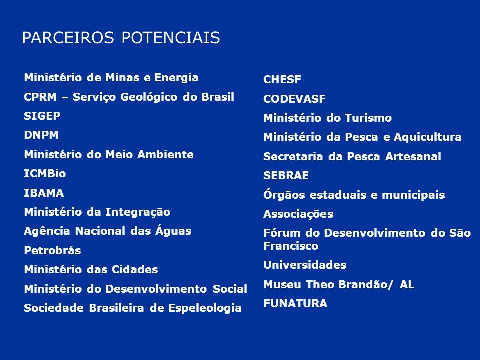 PARCEIROS POTENCIAIS Ministério de Minas e Energia CHESF