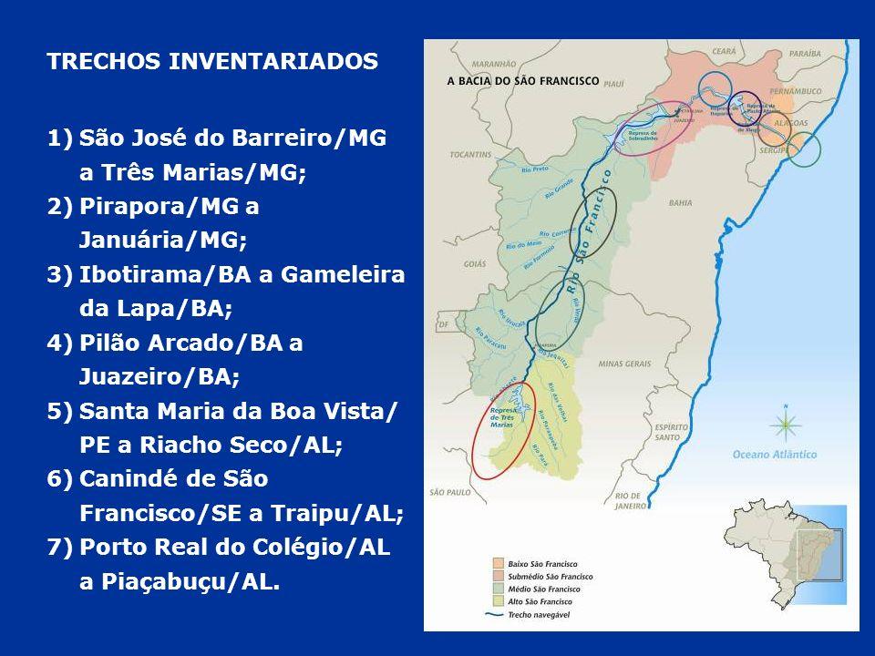 TRECHOS INVENTARIADOS