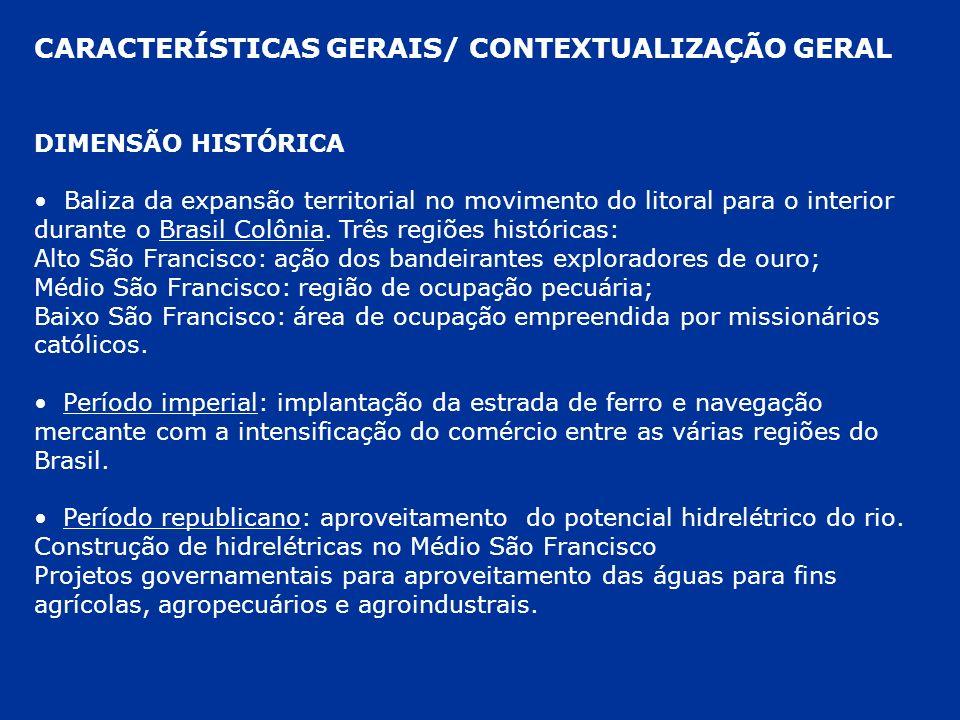 CARACTERÍSTICAS GERAIS/ CONTEXTUALIZAÇÃO GERAL