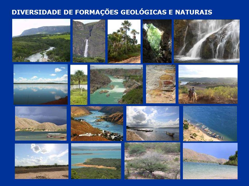 DIVERSIDADE DE FORMAÇÕES GEOLÓGICAS E NATURAIS