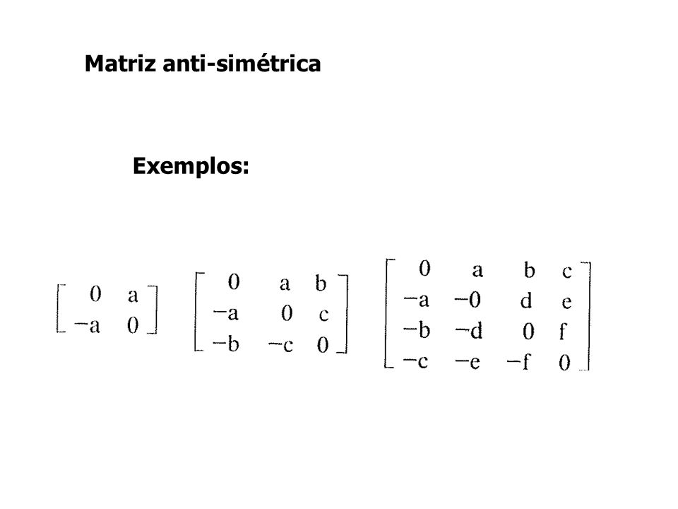 Matriz anti-simétrica