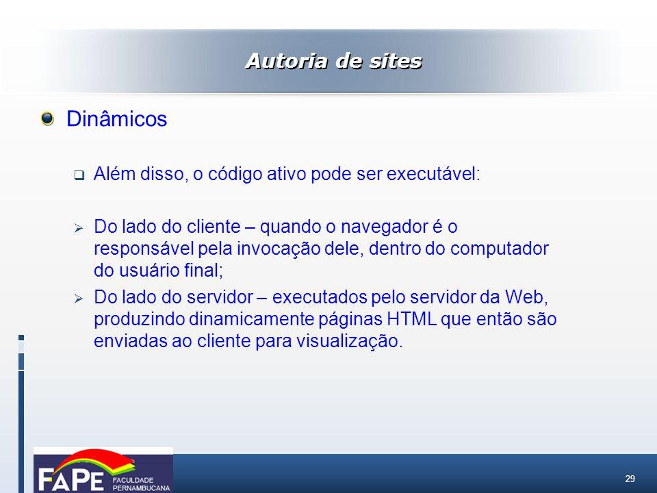 Dinâmicos Autoria de sites