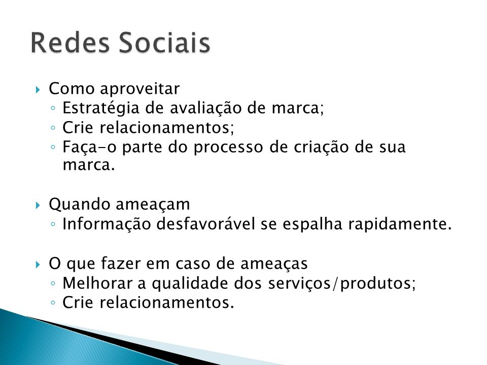 Redes Sociais Como aproveitar Estratégia de avaliação de marca;