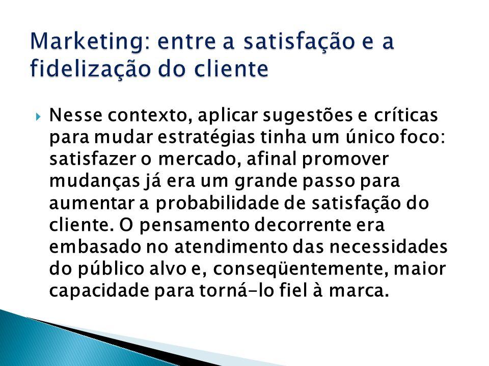 Marketing: entre a satisfação e a fidelização do cliente