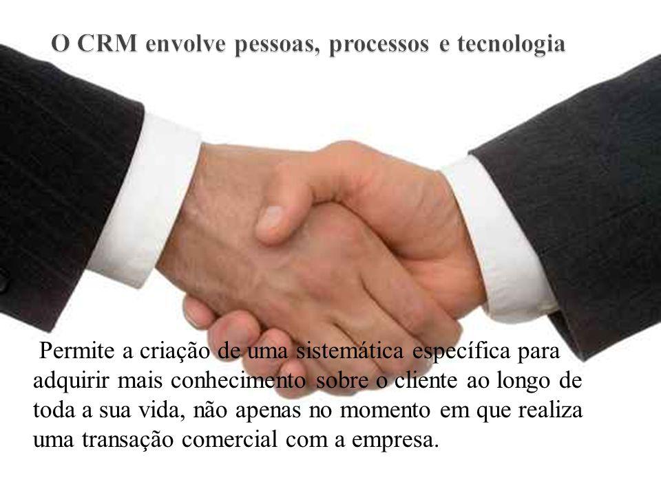 O CRM envolve pessoas, processos e tecnologia