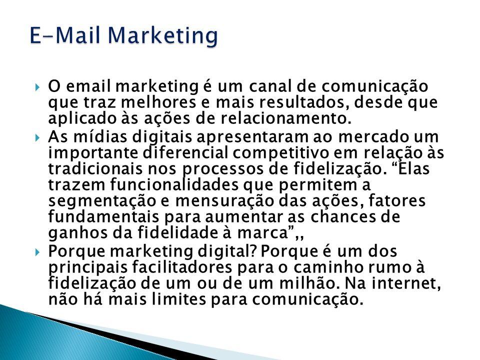 E-Mail MarketingO email marketing é um canal de comunicação que traz melhores e mais resultados, desde que aplicado às ações de relacionamento.