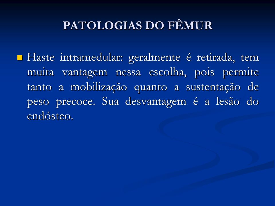 PATOLOGIAS DO FÊMUR