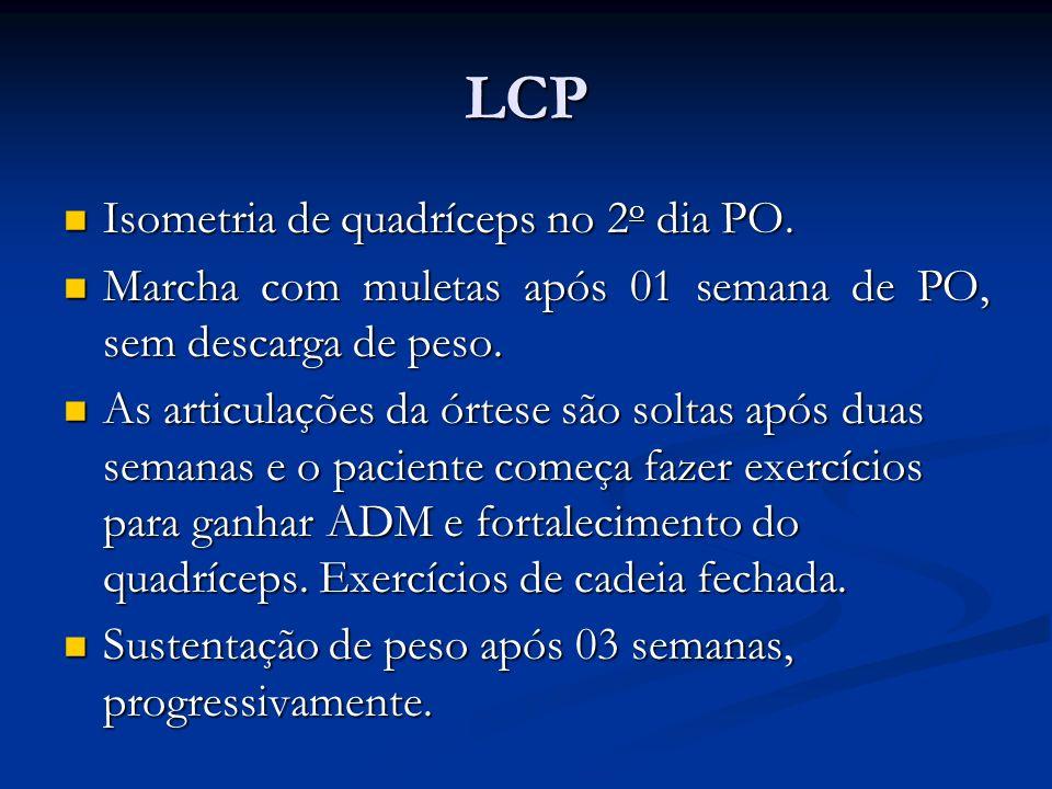 LCP Isometria de quadríceps no 2o dia PO.
