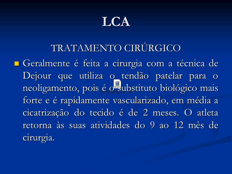 LCA TRATAMENTO CIRÚRGICO