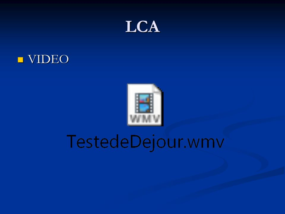 LCA VIDEO