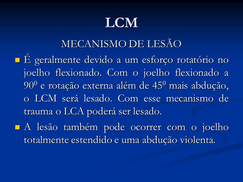 LCM MECANISMO DE LESÃO.