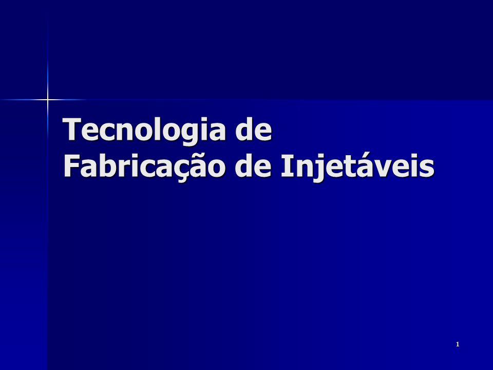 Tecnologia de Fabricação de Injetáveis