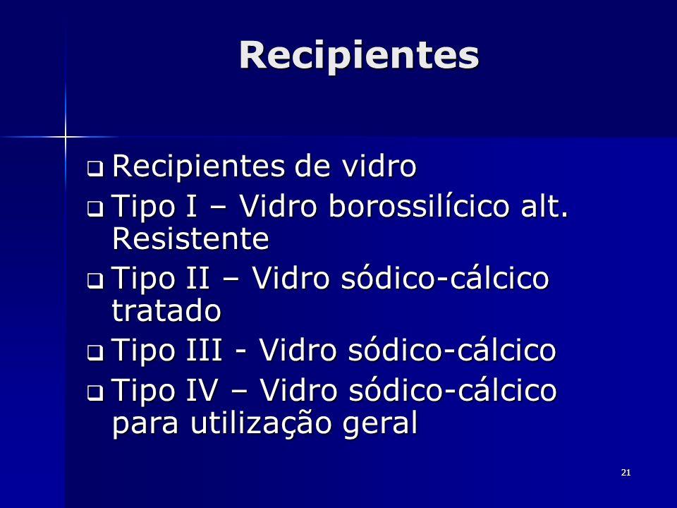 Recipientes Recipientes de vidro