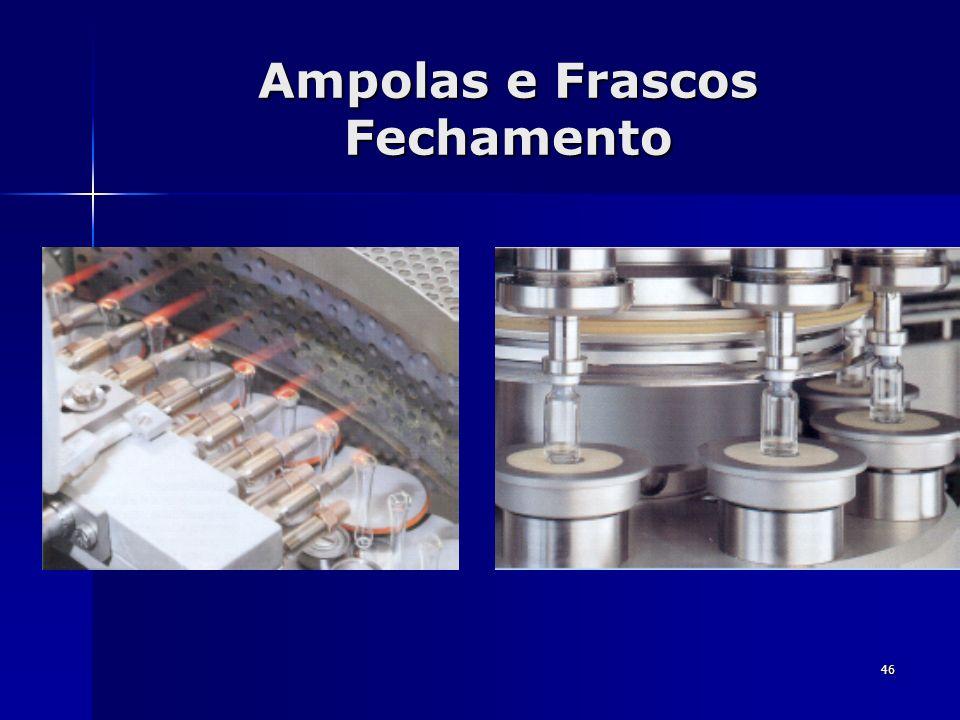 Ampolas e Frascos Fechamento