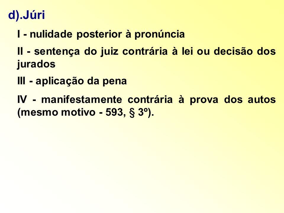 I - nulidade posterior à pronúncia