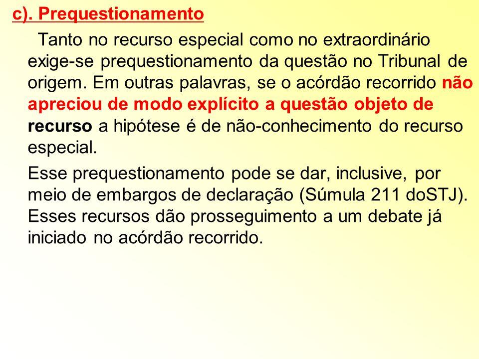 c). Prequestionamento