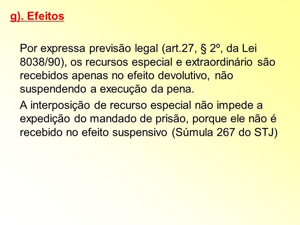 g). Efeitos