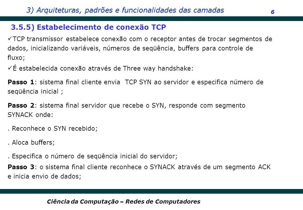 3.5.5) Estabelecimento de conexão TCP