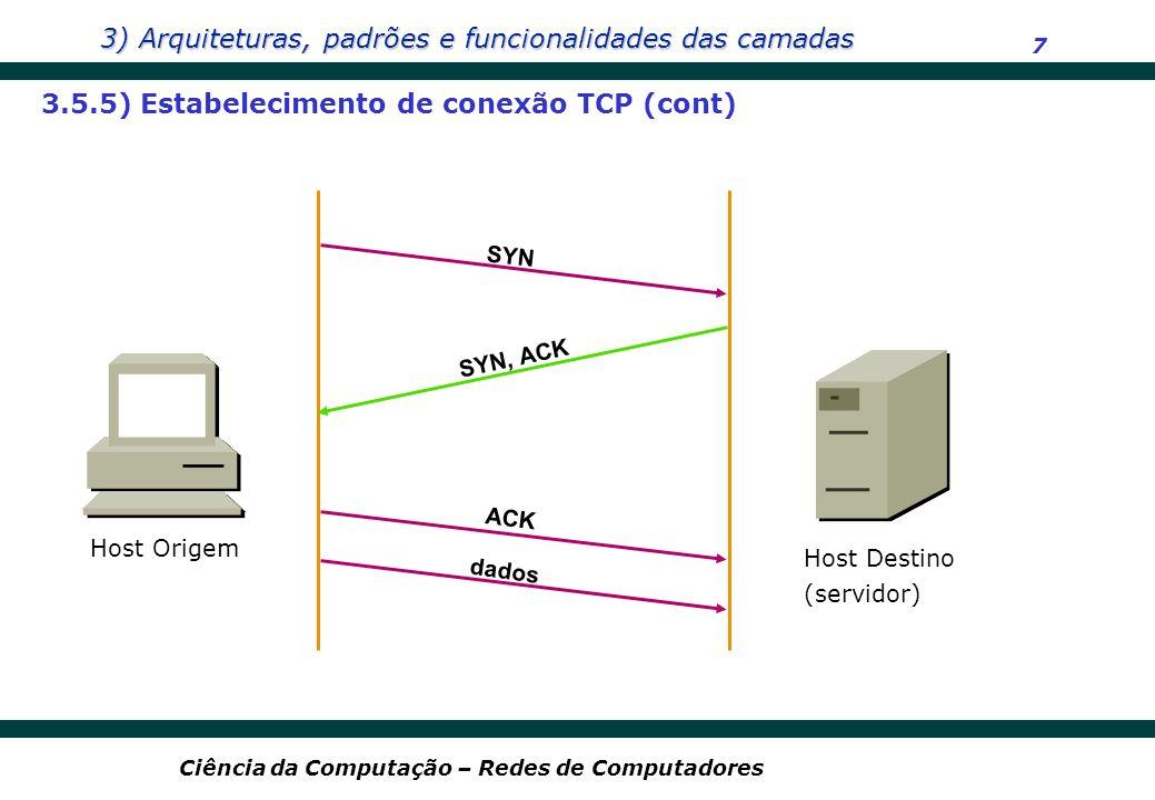 3.5.5) Estabelecimento de conexão TCP (cont)