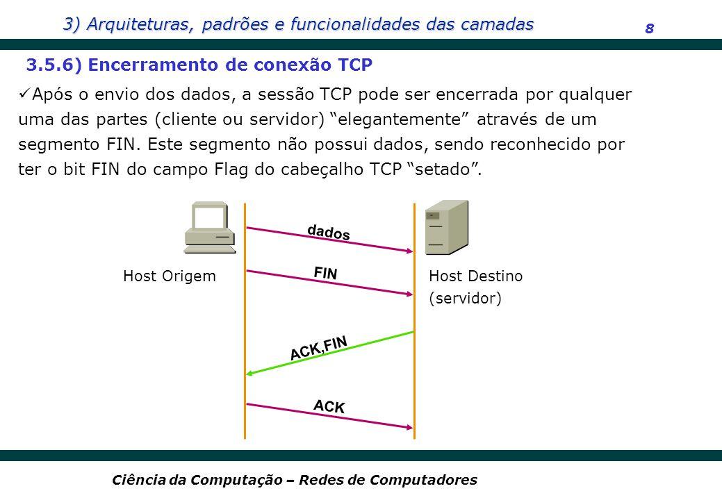 3.5.6) Encerramento de conexão TCP
