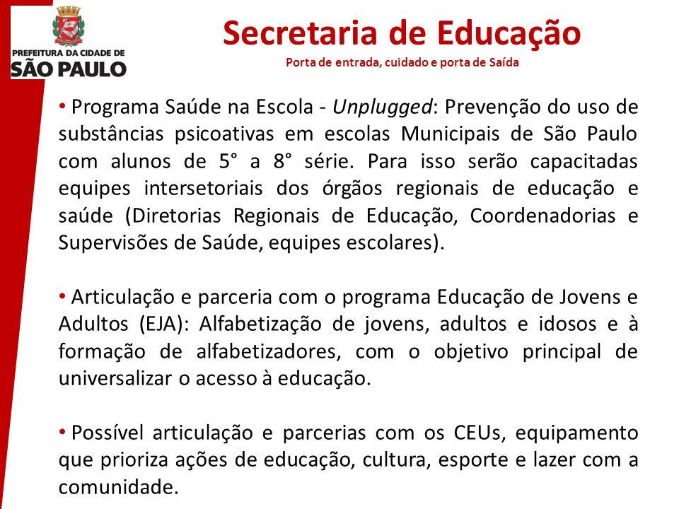 Secretaria de Educação Porta de entrada, cuidado e porta de Saída