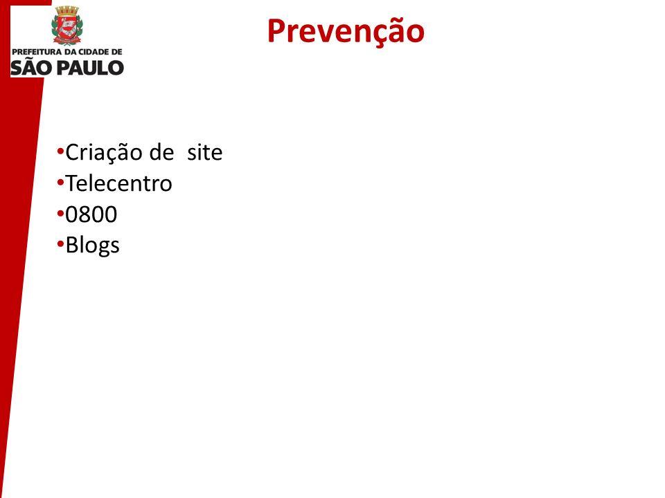 Criação de site Telecentro 0800 Blogs