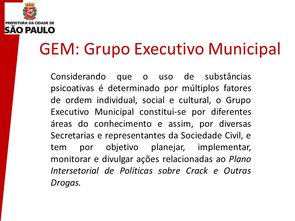 GEM: Grupo Executivo Municipal