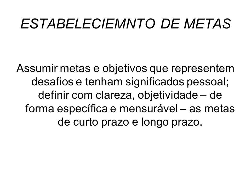 ESTABELECIEMNTO DE METAS