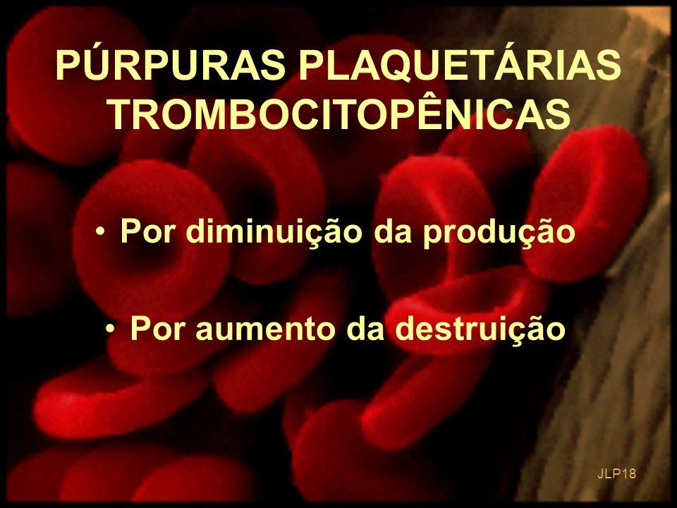 PÚRPURAS PLAQUETÁRIAS TROMBOCITOPÊNICAS