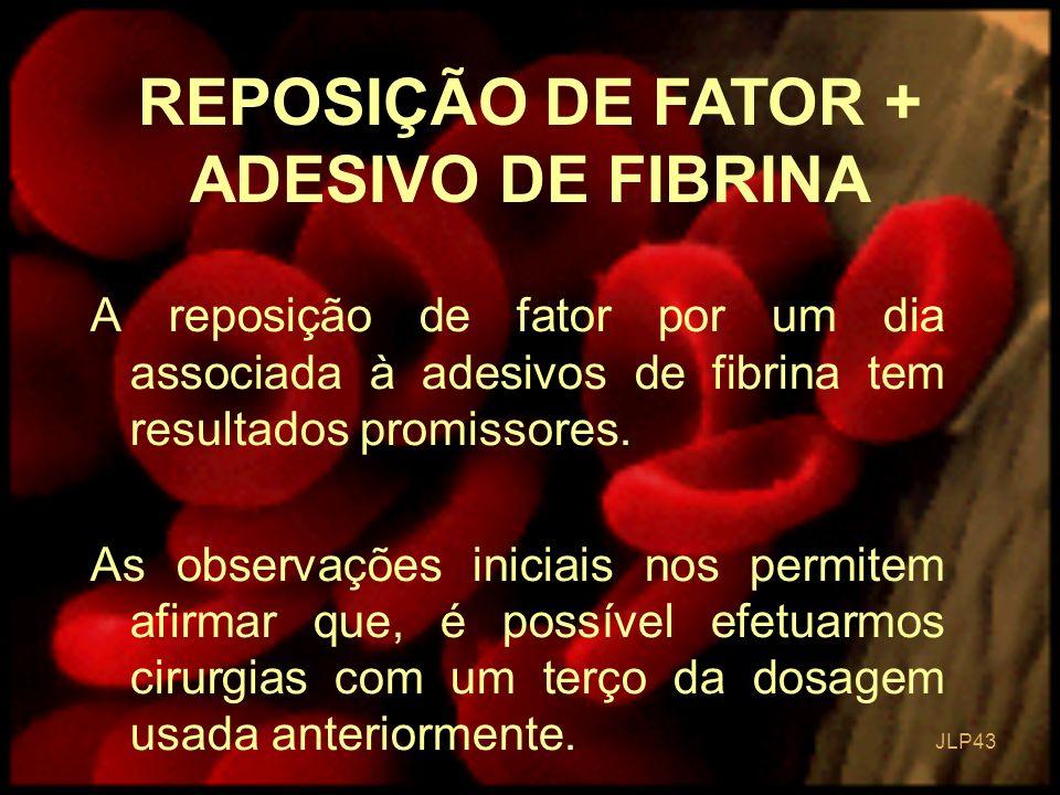 REPOSIÇÃO DE FATOR + ADESIVO DE FIBRINA