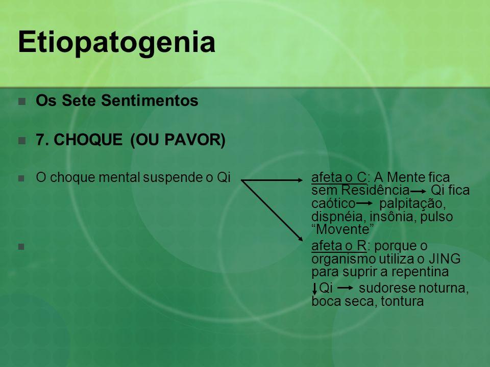 Etiopatogenia Os Sete Sentimentos 7. CHOQUE (OU PAVOR)