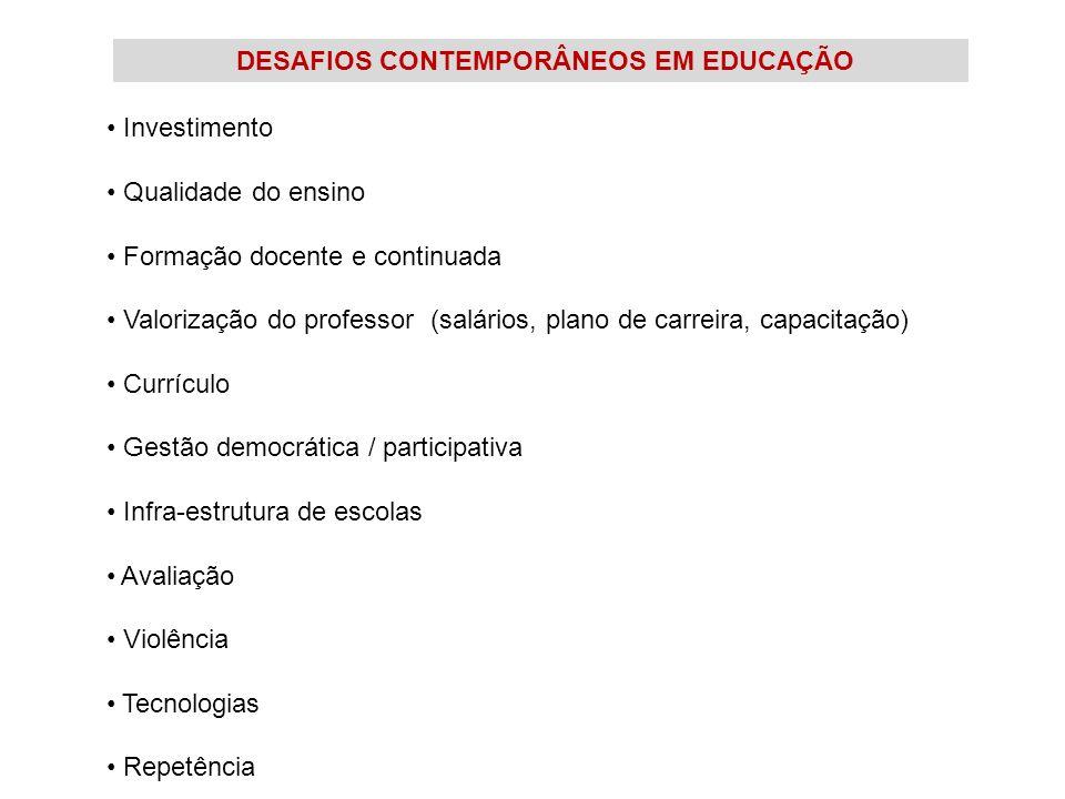 DESAFIOS CONTEMPORÂNEOS EM EDUCAÇÃO