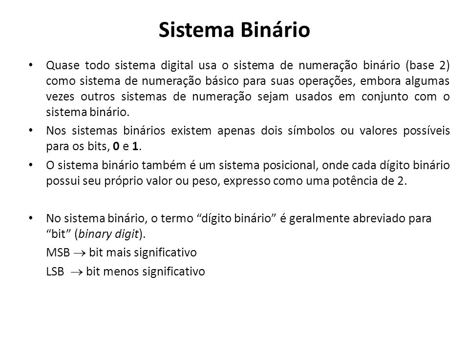 Sistema Binário