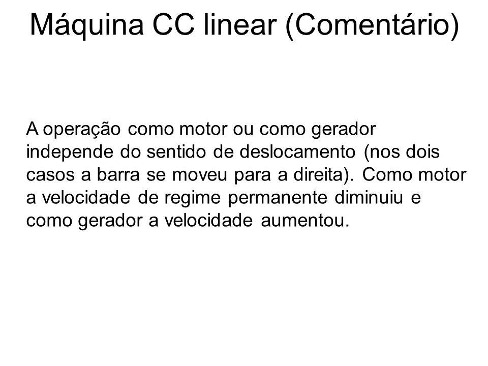 Máquina CC linear (Comentário)