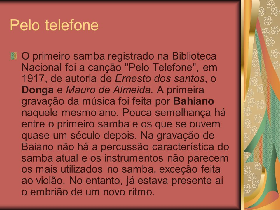 Pelo telefone
