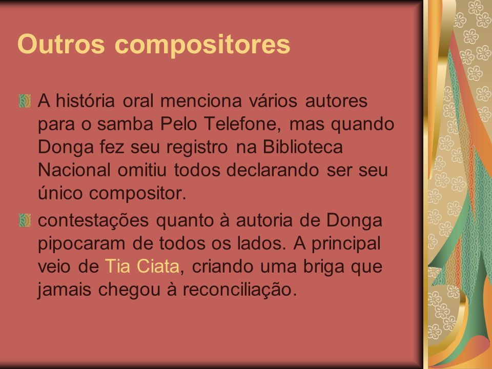 Outros compositores