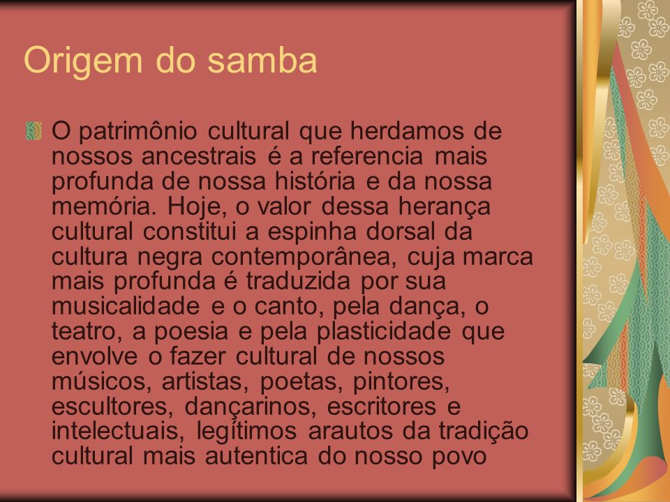 Origem do samba