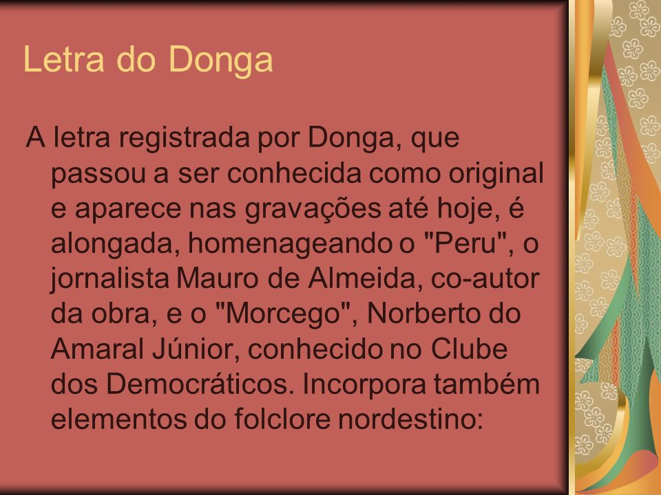 Letra do Donga