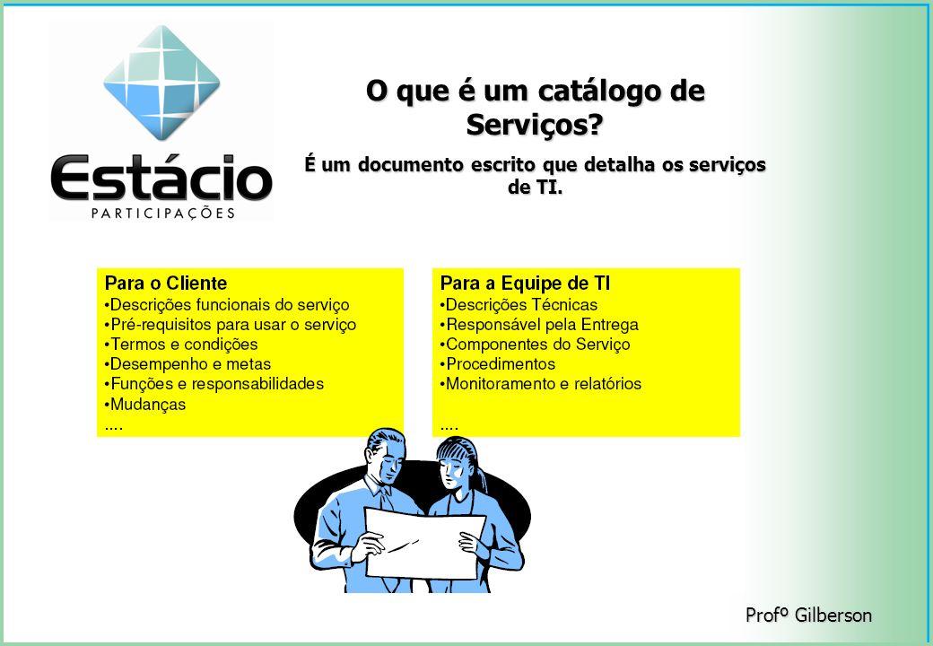 O que é um catálogo de Serviços