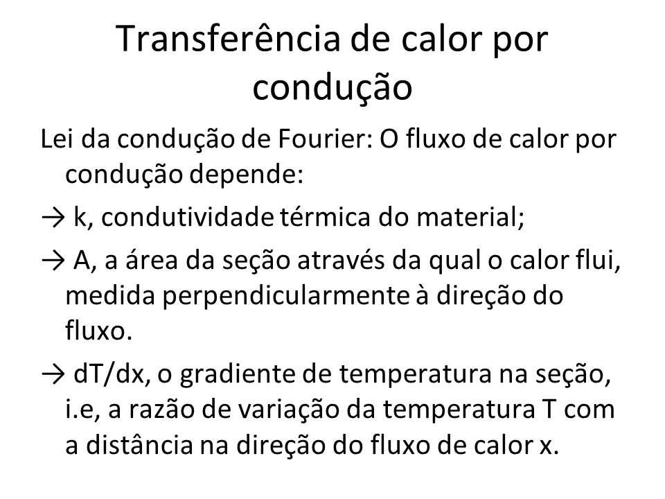 Transferência de calor por condução