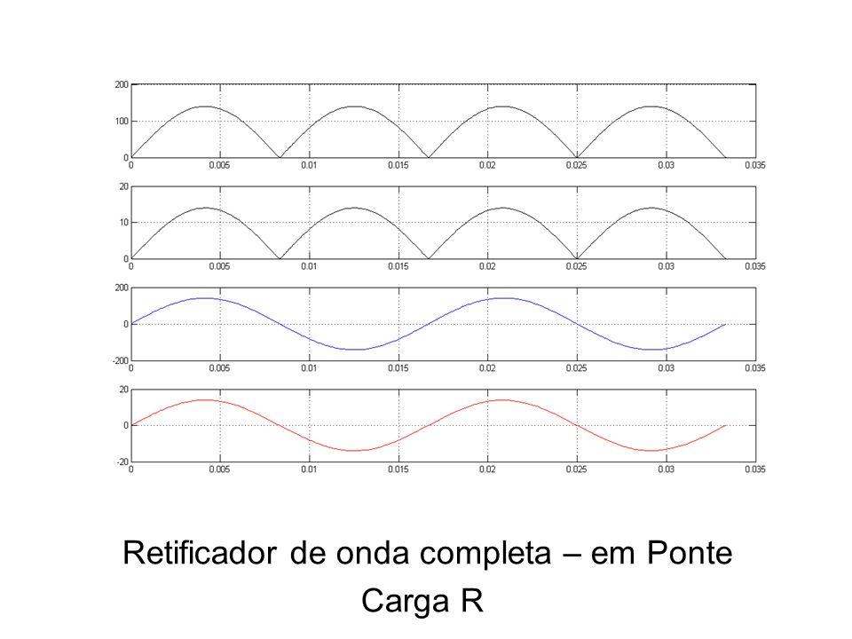 Retificador de onda completa – em Ponte Carga R
