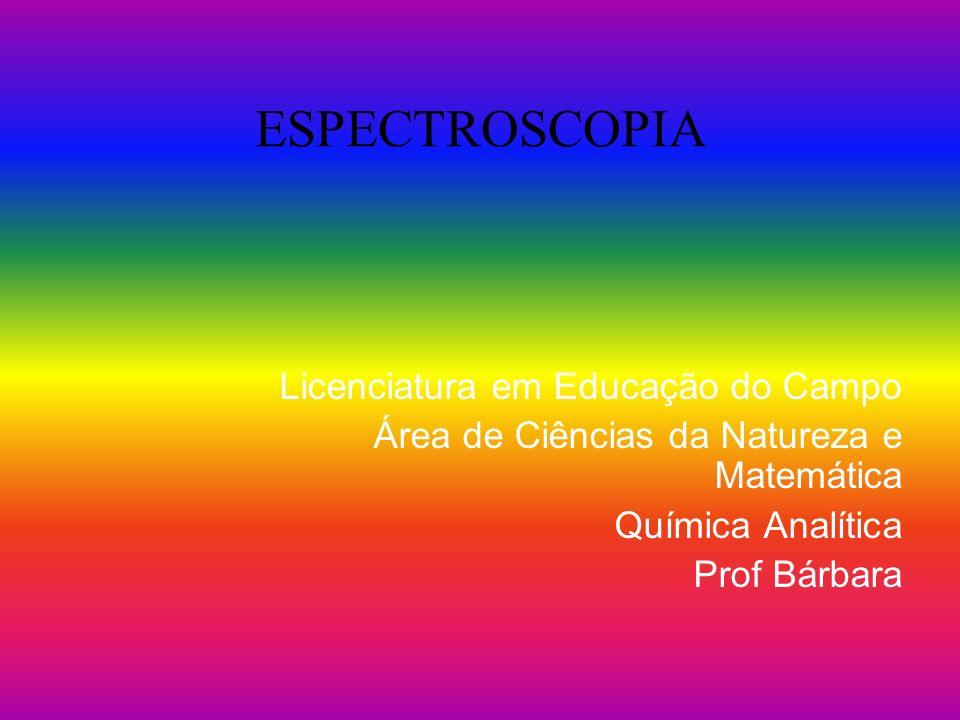 ESPECTROSCOPIA Licenciatura em Educação do Campo