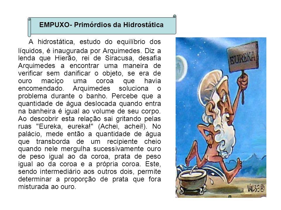 EMPUXO- Primórdios da Hidrostática