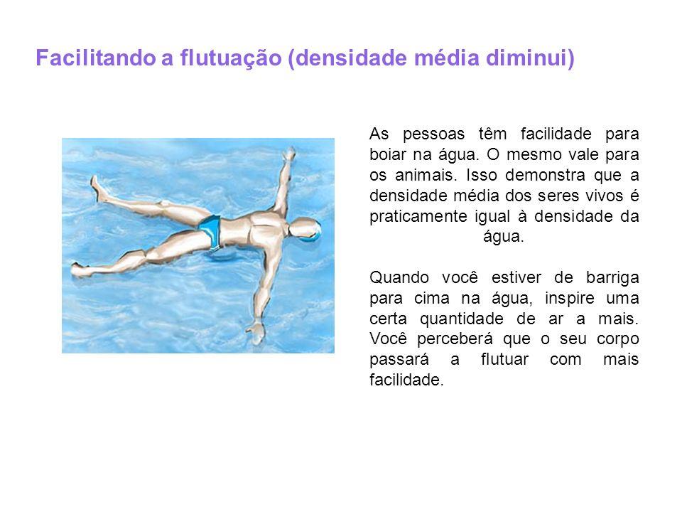 Facilitando a flutuação (densidade média diminui)
