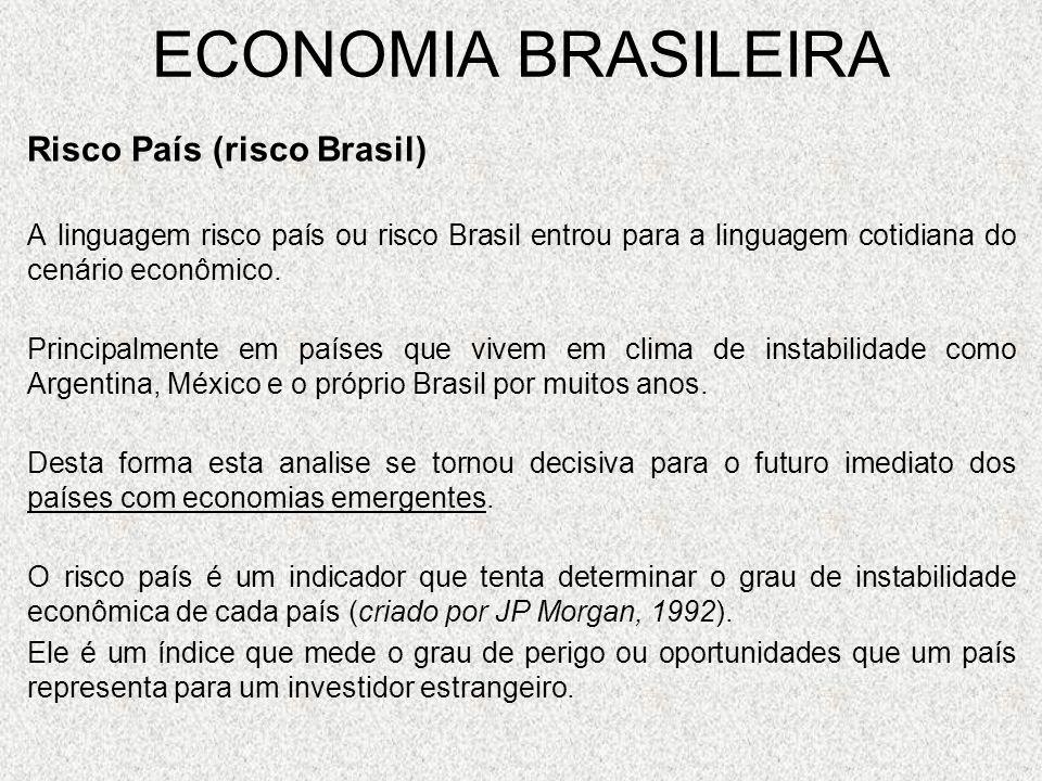 ECONOMIA BRASILEIRA Risco País (risco Brasil)