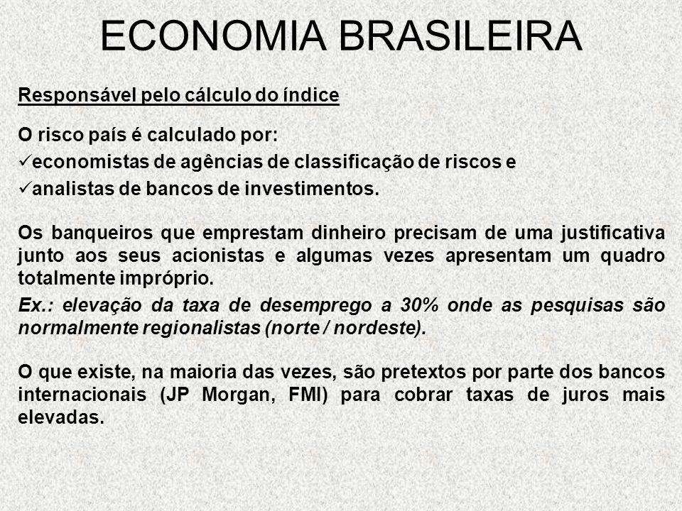 ECONOMIA BRASILEIRA Responsável pelo cálculo do índice