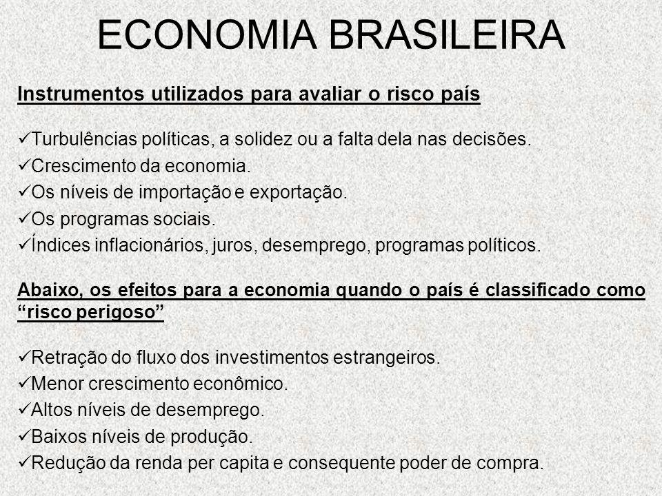 ECONOMIA BRASILEIRA Instrumentos utilizados para avaliar o risco país
